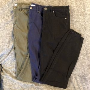 LOFT size 24 00 skinny legging pants in 3 colors